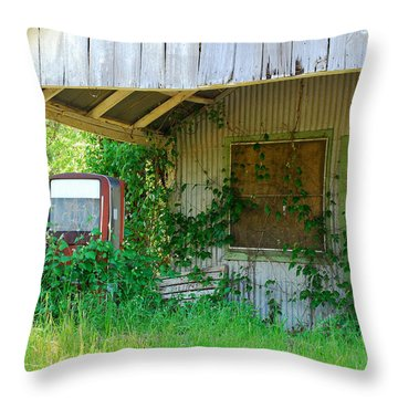 Out Of Business Throw Pillow by Connie Fox