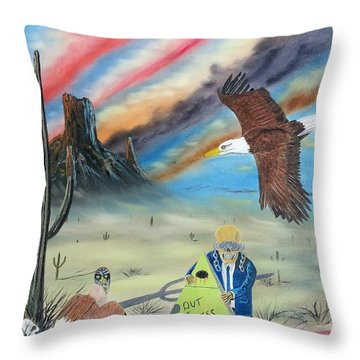 Out Of Business II Throw Pillow by Jody Poehl