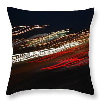 Throw Pillow featuring the photograph Out Of Control by Maggy Marsh