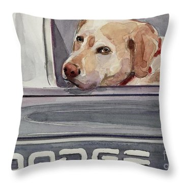 Out Of Dodge Throw Pillow by Molly Poole