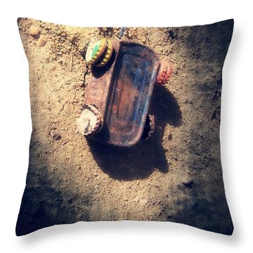 Out Of Gas And Other Resources Throw Pillow