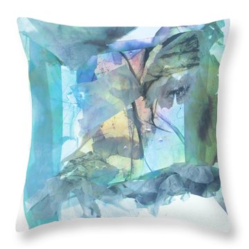 Throw Pillow featuring the mixed media Out Of Love by Danica Radman