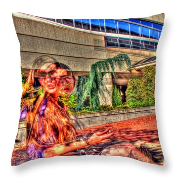 Out Of Phase 2 Throw Pillow by Andy Lawless