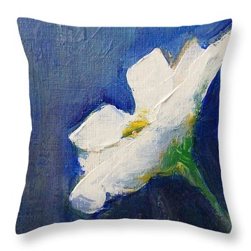 Throw Pillow featuring the painting Out Of The Blue by Jane  See