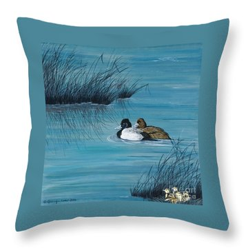 Out Of The Blue Throw Pillow by Jennifer Lake
