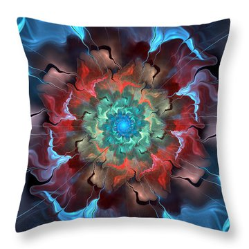 Out Of The Blue Throw Pillow by Kim Redd