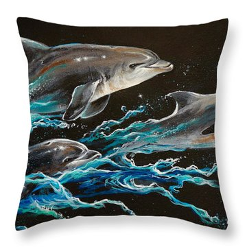 Out Of The Blue Throw Pillow by Marco Antonio Aguilar