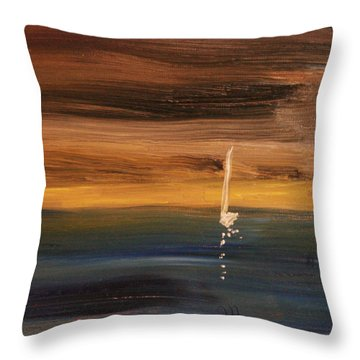 Throw Pillow featuring the painting Out Of The Dark by Michael Helfen