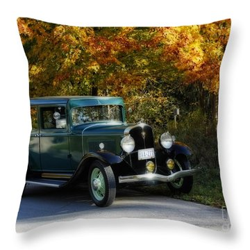 Out Of The Darkness Into The Light 1932 Frontenac Throw Pillow by Inspired Nature Photography Fine Art Photography