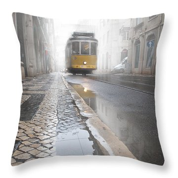 Out Of The Haze Throw Pillow
