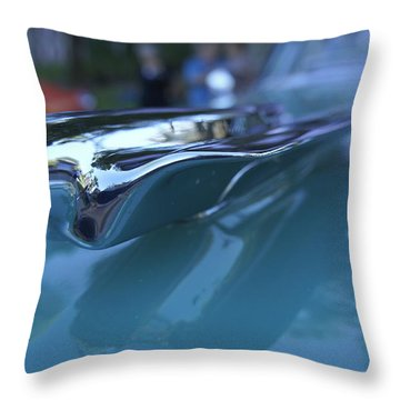 Throw Pillow featuring the photograph Out Of The Metal by Laurie Perry