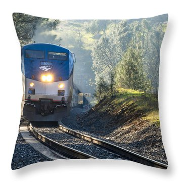 Throw Pillow featuring the photograph Out Of The Mist by Jim Thompson