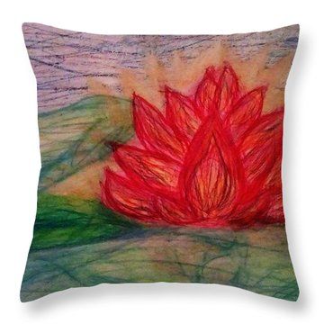 Out Of The Muck Comes The Beauty Throw Pillow by Thomasina Durkay