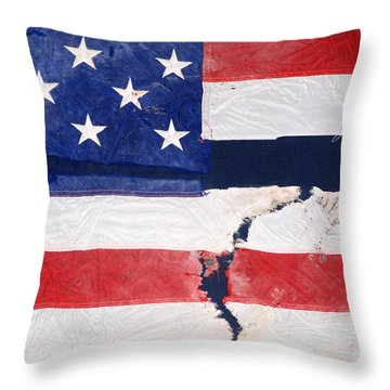 Throw Pillow featuring the photograph Out Of The Rubble  September 11 2001 by John Schneider