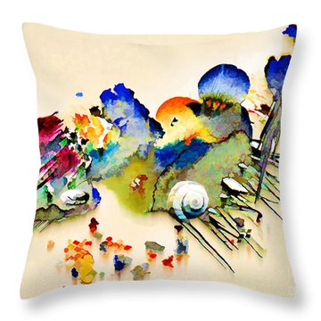 Out Of The Sea - Abstract Throw Pillow