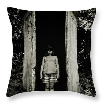Out Of The Shadows Throw Pillow by Mark Miller