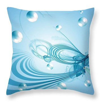 Out Of This World Throw Pillow by Peggy Hughes