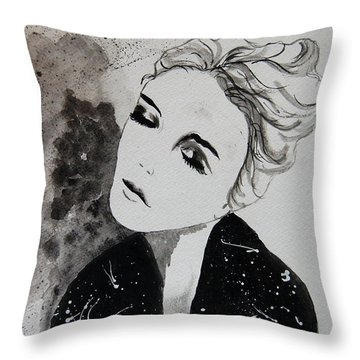 Out On The Town Throw Pillow by Tamyra Crossley