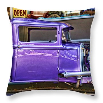 Out Shopping By Diana Sainz Throw Pillow