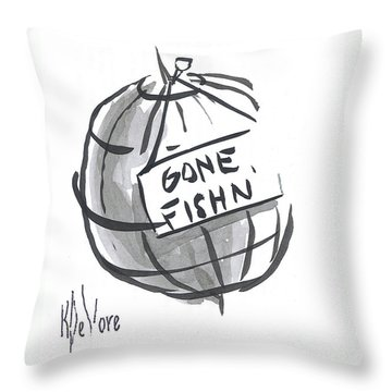 Out To Lunch Throw Pillow by Kip DeVore