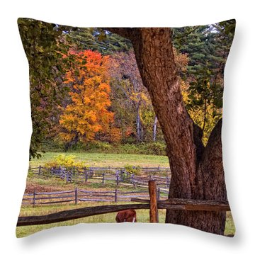 Out To Pasture Throw Pillow by Joann Vitali