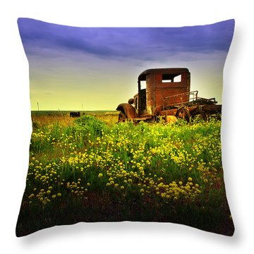 Out To Pasture Throw Pillow by Sonya Lang