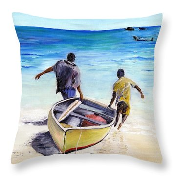 Out To Sea Throw Pillow