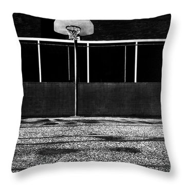 Outdoor Basketball Court Throw Pillow