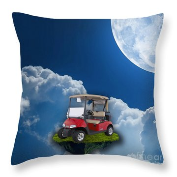 Outdoor Golfing Throw Pillow by Marvin Blaine