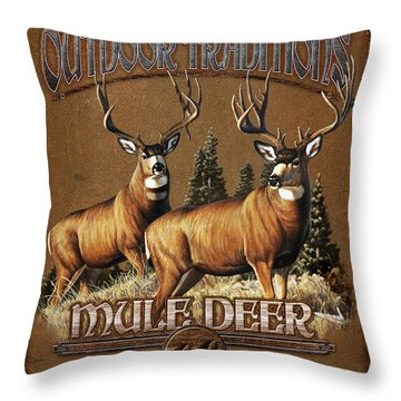 Outdoor Traditions Mule Deer Throw Pillow