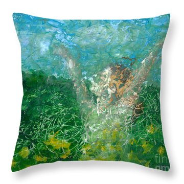 Outdoors Throw Pillow by Denise Deiloh