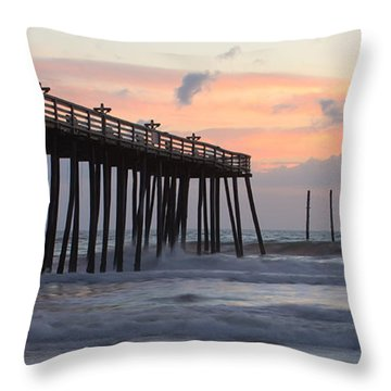 Outer Banks Sunrise Throw Pillow by Adam Romanowicz