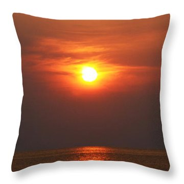 Throw Pillow featuring the photograph Outer Banks Sunset by Tony Cooper