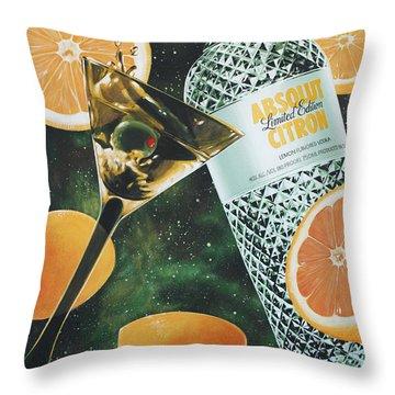 Outer Citron Throw Pillow