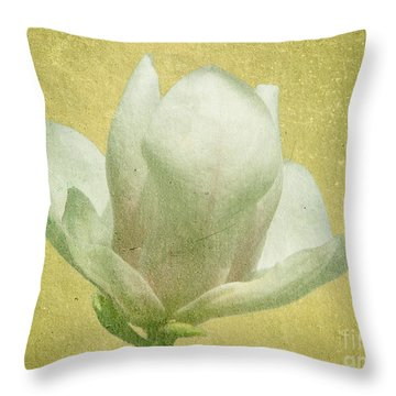 Outer Magnolia Throw Pillow by Jeff Kolker