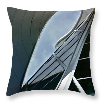 Outer Space Throw Pillow by Linda Bianic