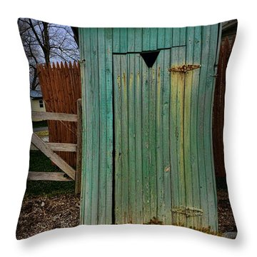 Outhouse - 6 Throw Pillow by Paul Ward