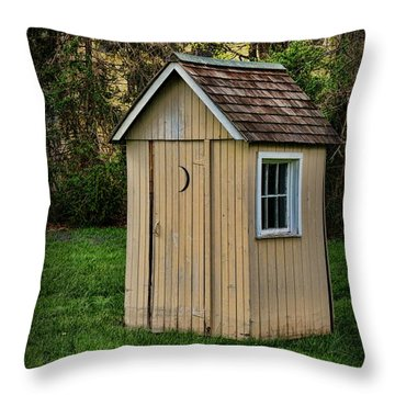 Outhouse - 8 Throw Pillow by Paul Ward