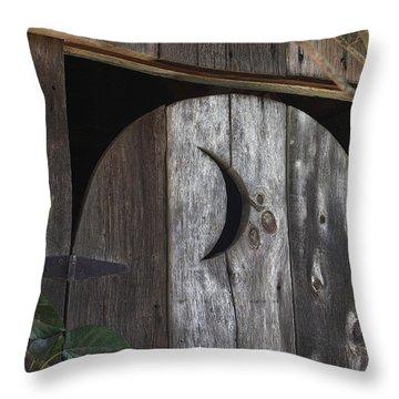 Outhouse Door Throw Pillow