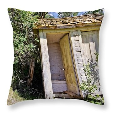 Outhouse For Two Throw Pillow