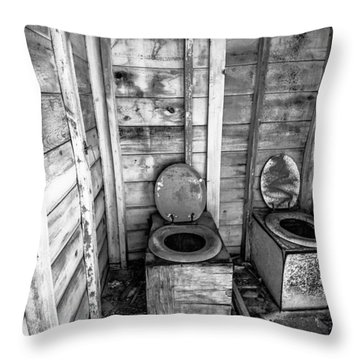 Throw Pillow featuring the photograph Outhouse by Robert  Aycock