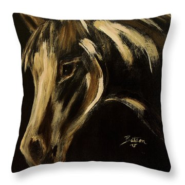 Throw Pillow featuring the painting Outlaw by Barbie Batson