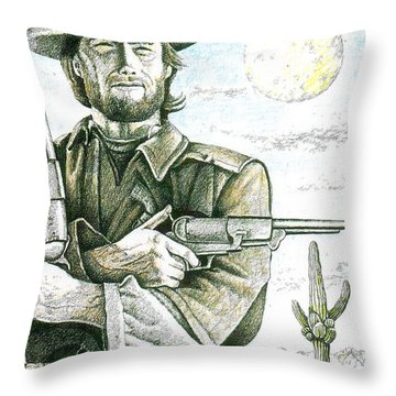 Outlaw Josey Wales Throw Pillow