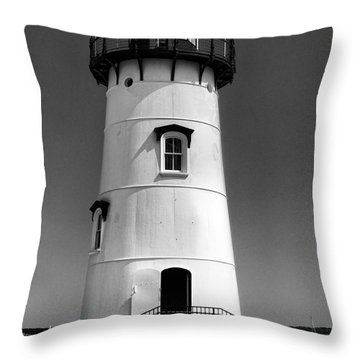 Outside Edgartown Lighthouse Throw Pillow