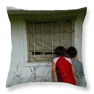 Throw Pillow featuring the photograph Outside Looking In by Jane Ford