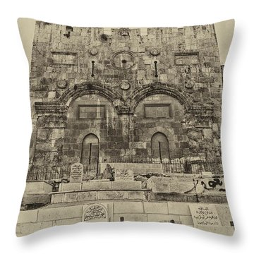 Outside The Eastern Gate Old City Jerusalem Throw Pillow