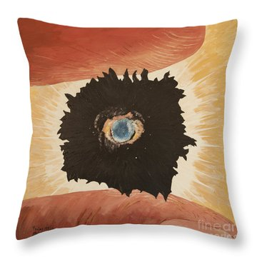 Throw Pillow featuring the painting Outside Time by Mark Robbins