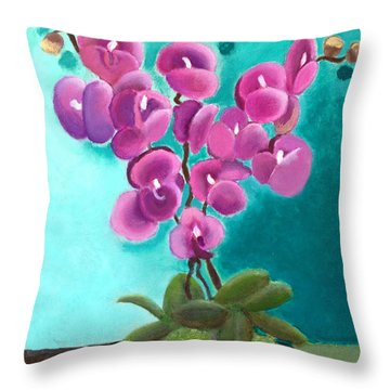 Outstanding Orchids Throw Pillow