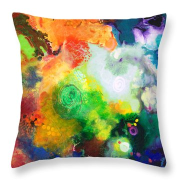 Outward Bound Throw Pillow by Sally Trace