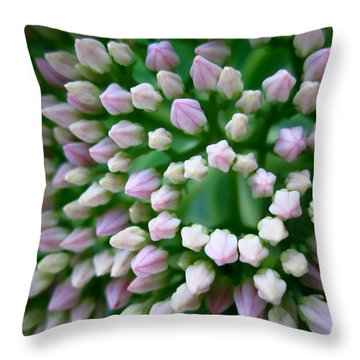 Oval And Angles Throw Pillow